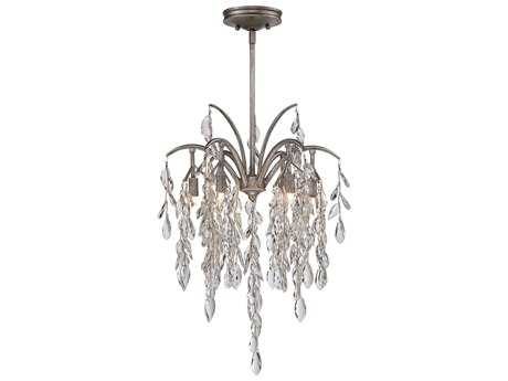 Metropolitan Lighting Bella Flora Silver Mist Six-Lights 17'' Wide Pendant Light METN6866278