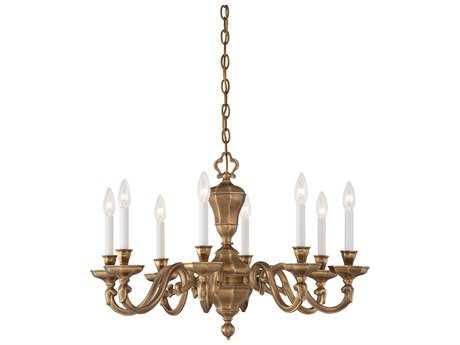 Metropolitan Lighting Casoria Vintage English Patina Eight-Lights 28'' Wide Chandelier METN1115046