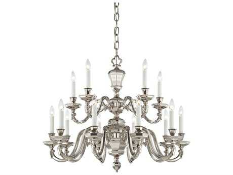 Metropolitan Lighting Casoria Polished Nickel 15-Lights 33'' Wide Grand Chandelier METN1117613