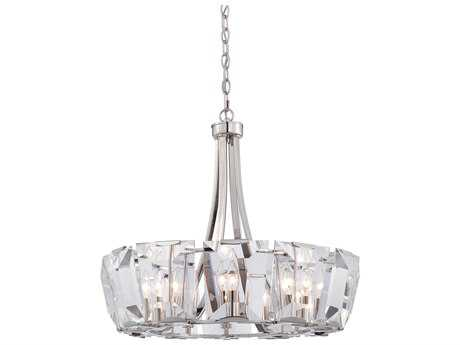 Metropolitan Lighting Castle Aurora Polished Nickel 12-Lights 25.5'' Wide Chandelier METN6982613