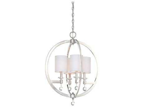 Metropolitan Lighting Chadbourne Polished Nickel Four-Lights 23'' Wide Mini Chandelier METN6840613