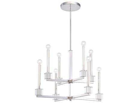 Metropolitan Lighting Chadbourne Polished Nickel Eight-Lights 29'' Wide Chandelier METN6871613