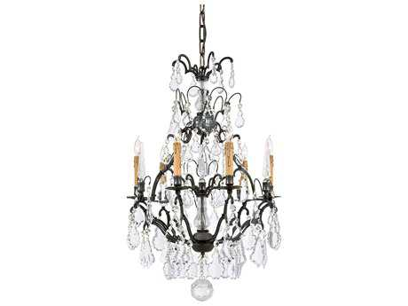Metropolitan Lighting Patina Bronze Six-Lights 21'' Wide Chandelier