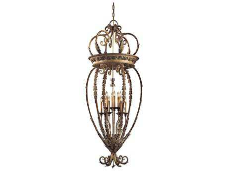 Metropolitan Lighting Padova with Acanthus Leaf Accents 12-Lights 28'' Wide Chandelier