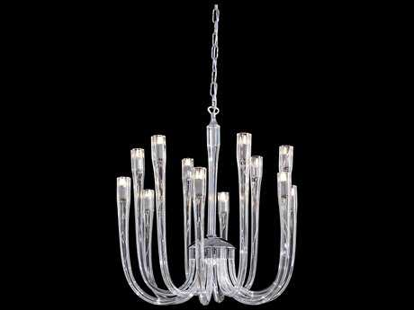 Metropolitan Lighting Chrome with Clear Glass 12-Lights 22'' Wide Chandelier METN9186