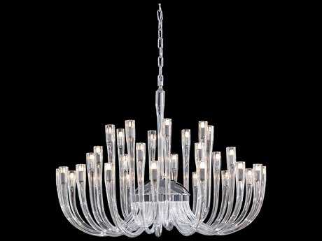 Metropolitan Lighting Chrome with Clear Glass 32-Lights 37'' Wide Chandelier METN9189