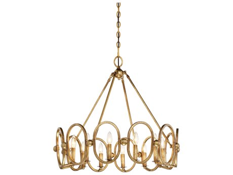 Metropolitan Lighting Clairpointe Pandora Gold Leaf 12-Light 30'' Wide Chandelier METN6888293