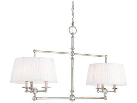 Metropolitan Lighting Continental Classics Polished Nickel Six-Lights 50'' long Island Light METN6800613