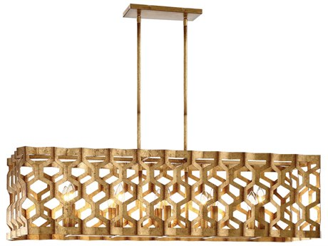 Metropolitan Lighting Coronade Pandora Gold Leaf Ten-Light 40'' Wide Island Light METN6778293
