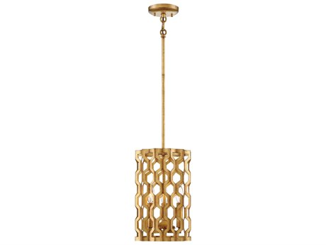 Metropolitan Lighting Coronade Pandora Gold Leaf Three-Light 9'' High Mini Pendant Light METN6770293