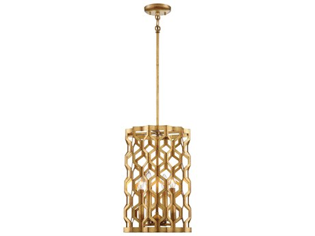 Metropolitan Lighting Coronade Pandora Gold Leaf Four-Light 12'' Wide Pendant Light METN6771293