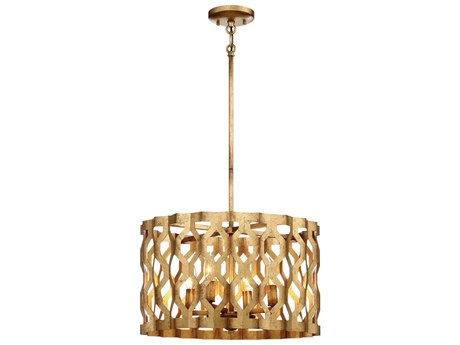 Metropolitan Lighting Coronade Pandora Gold Leaf Four-Light 18'' Wide Pendant Light METN6773293