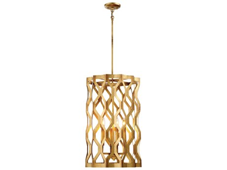 Metropolitan Lighting Coronade Pandora Gold Leaf Four-Light 17'' Wide Pendant Light METN6774293