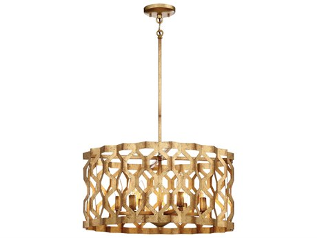 Metropolitan Lighting Coronade Pandora Gold Leaf Five-Light 22'' Wide Pendant Light METN6775293
