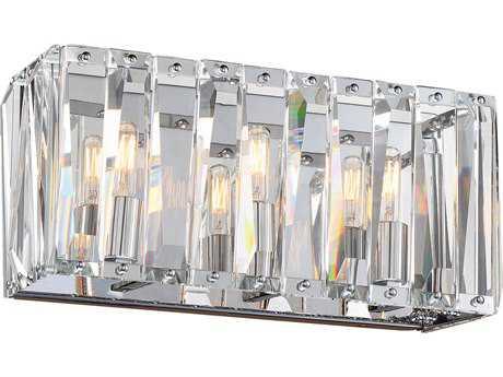 Metropolitan Lighting Coronette Chrome Three-Light Vanity Light METN175377
