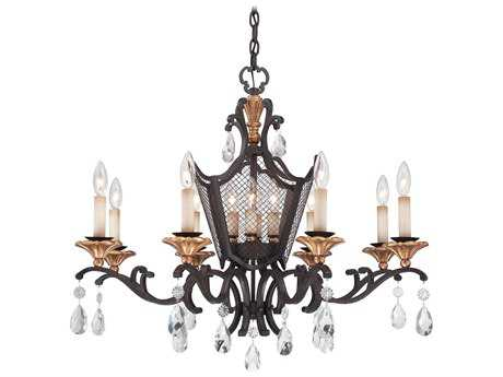 Metropolitan Lighting Cortona French Bronze with Gold Highlight Eight-Lights 32'' Wide Chandelier