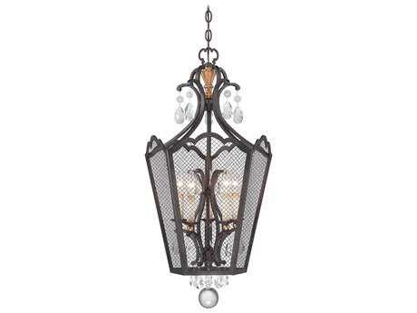 Metropolitan Lighting Cortona French Bronze with Gold Highlight Five-Lights 18'' Wide Pendant Light