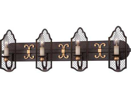 Metropolitan Lighting Cortona French Bronze with Gold Highligh Four-Lights Vanity Light