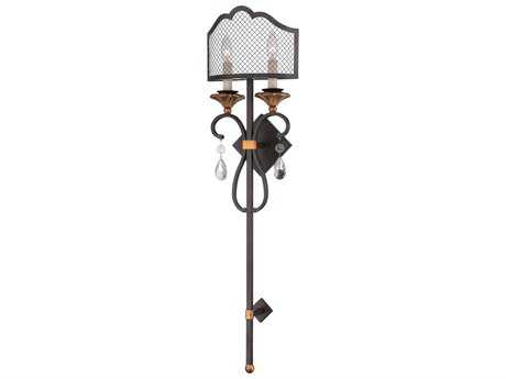 Metropolitan Lighting Cortona French Bronze with Gold Highlight Two-Lights Wall Sconce METN7102258B