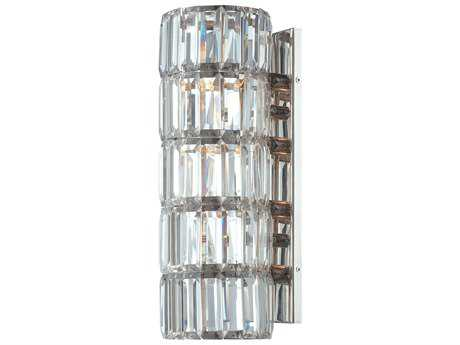 Metropolitan Lighting Crysalyn Falls Polished Nickel Four-Lights Wall Sconce METN6284613