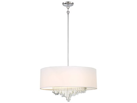 Metropolitan Lighting Crystal Cascade Chrome 24'' Wide Glass LED Pendant METN742577L