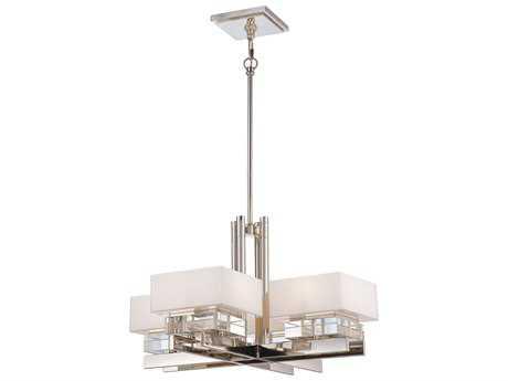 Metropolitan Lighting Eden Roe Polished Nickel Eight-Lights 27'' Wide Chandelier METN6267613