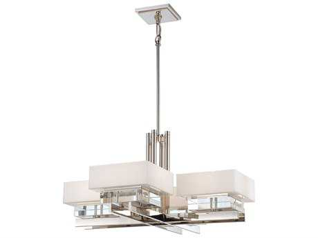 Metropolitan Lighting Eden Roe Polished Nickel Eight-Lights 34'' Wide Chandelier METN6268613
