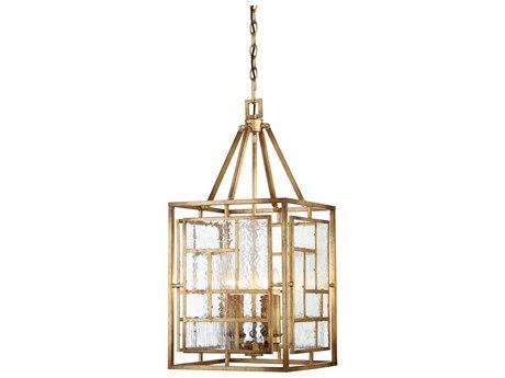 Metropolitan Lighting Edgemont Park Pandora Gold Leaf Four-Light 14'' Wide Pendant Light METN6474293