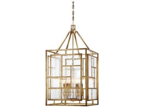 Metropolitan Lighting Edgemont Park Pandora Gold Leaf Six-Light 18'' Wide Pendant Light METN6476293