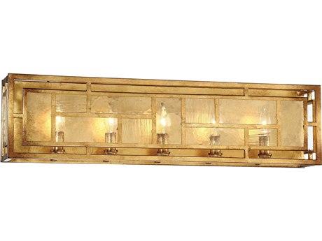 Metropolitan Lighting Edgemont Park Pandora Gold Leaf Five-Light Vanity Light METN1475293