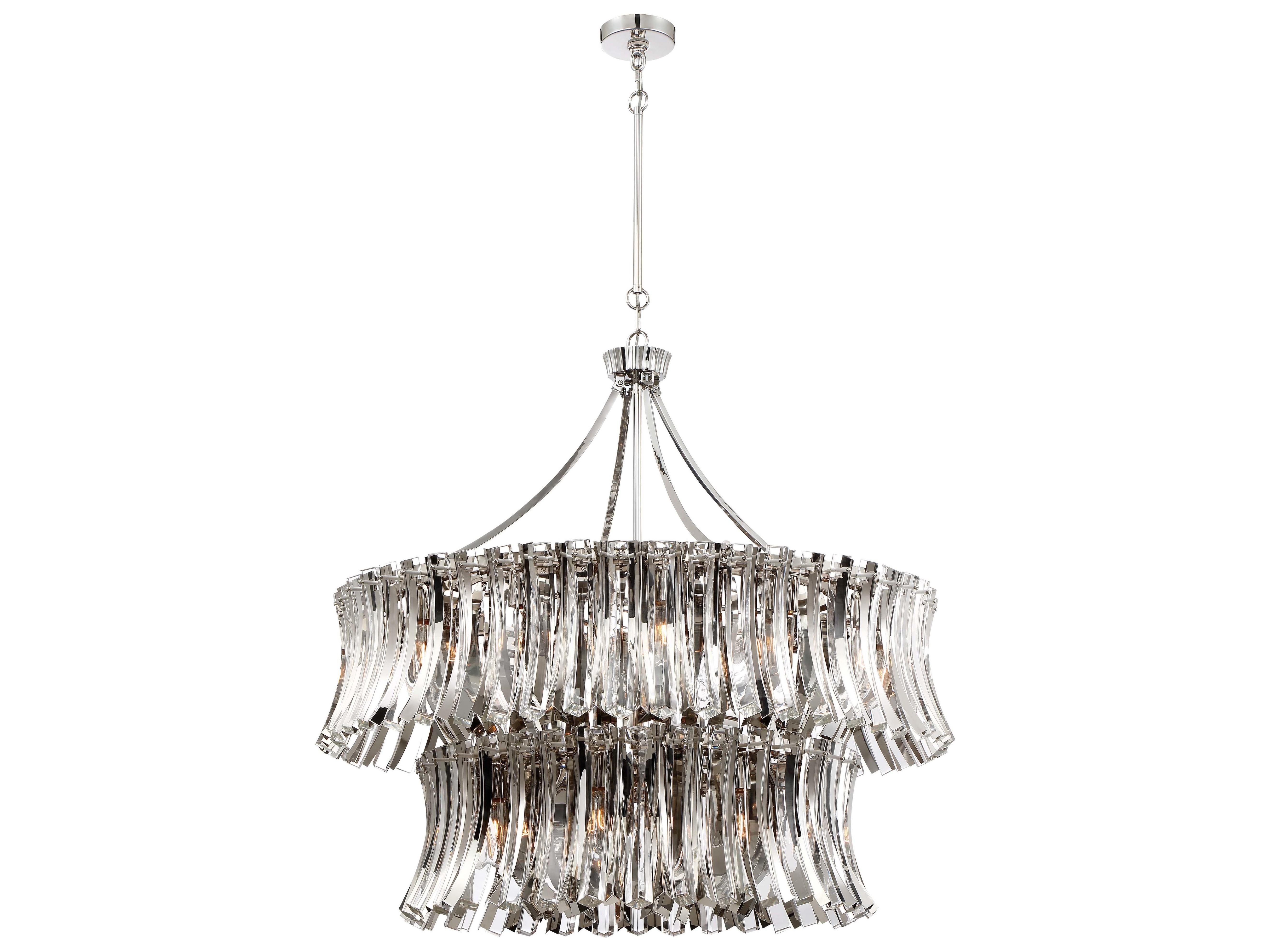 Metropolitan Lighting Elegance Royale Polished Nickel 39 Wide Crystal Gl Medium Chandelier