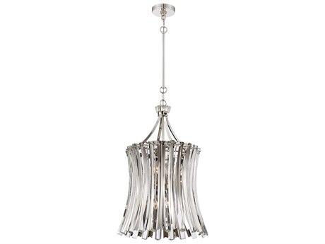 Metropolitan Lighting Elegance Royale Polished Nickel 19'' Wide Crystal Glass Pendant METN7256613