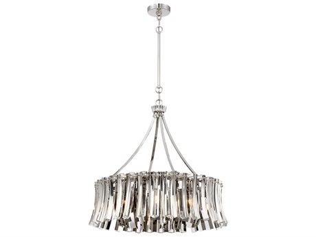 Metropolitan Lighting Elegance Royale Polished Nickel 29'' Wide Crystal Glass Pendant METN7257613
