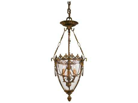 Metropolitan Lighting Foyer Antique Bronze Patina Three-Lights 12'' Wide Pendant Light METN2337OXB