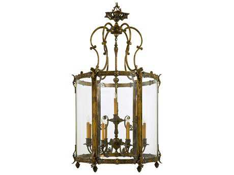 Metropolitan Lighting Foyer Antique Bronze Patina Eight-Lights 34'' Wide Pendant Light METN2343