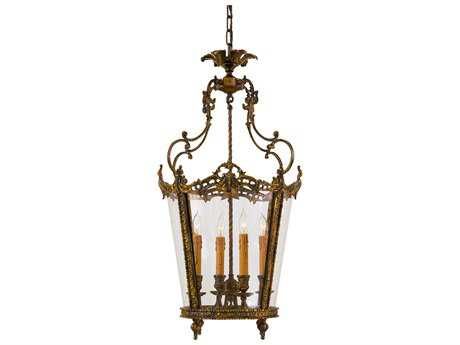 Metropolitan Lighting Foyer Antique Bronze Patina Four-Lights 18.5'' Wide Pendant Light METN851204OXB