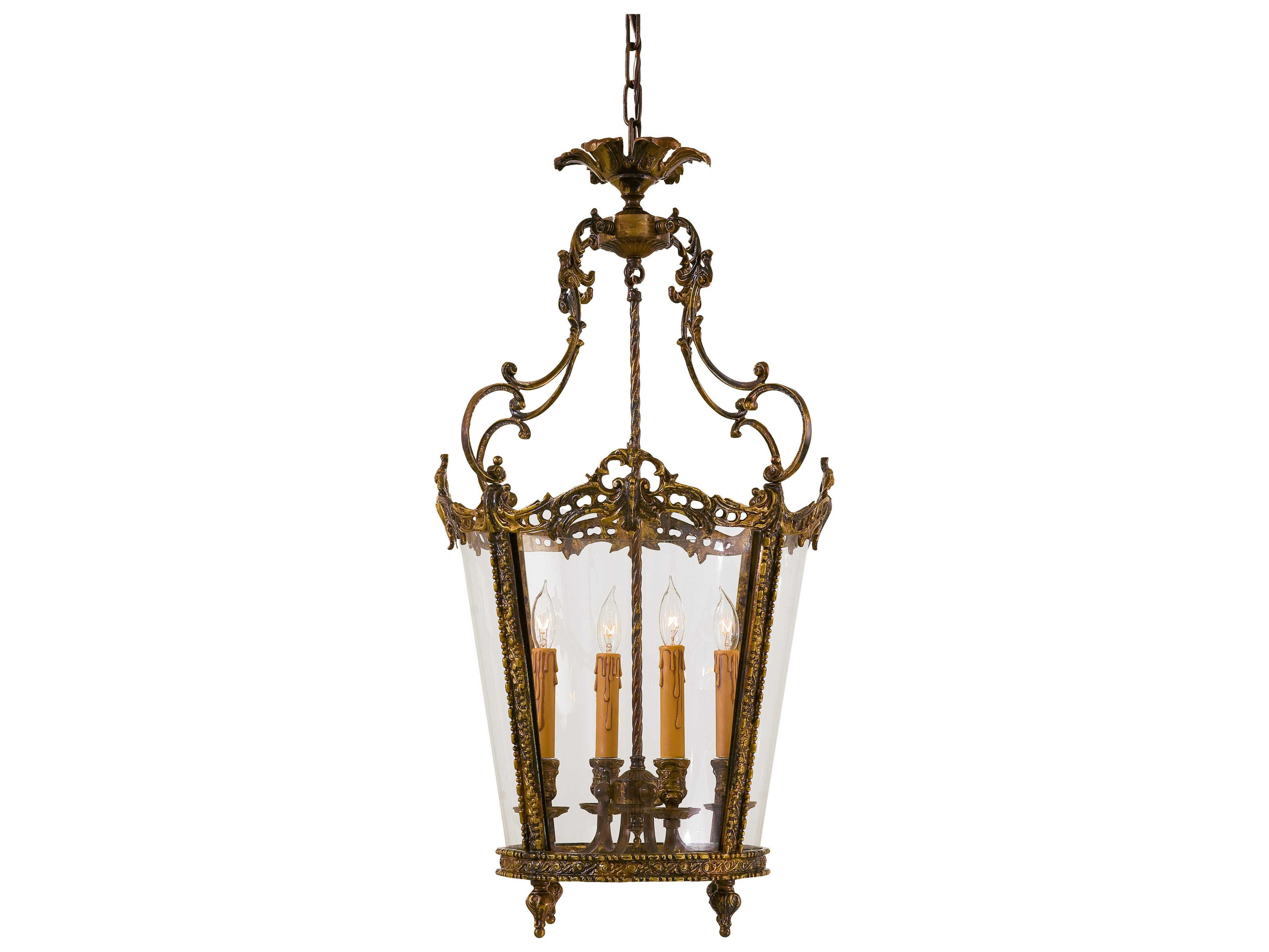 Metropolitan lighting foyer antique bronze patina four lights 18 5 wide pendant light