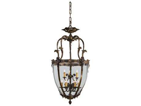 Metropolitan Lighting Foyer Antique Bronze Patina Nine-Lights 24'' Wide Pendant Light METN9201