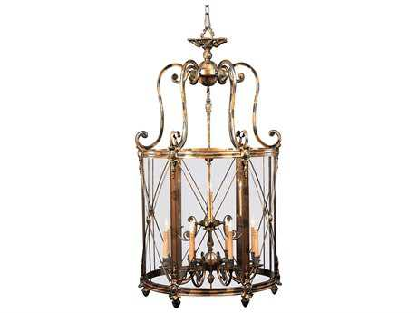 Metropolitan Lighting Foyer Oxide Bronze 12-Lights 33'' Wide Pendant Light METN9306