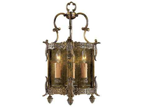 Metropolitan Lighting Foyer Oxide Brass Three-Lights Wall Sconce METN2339OXB