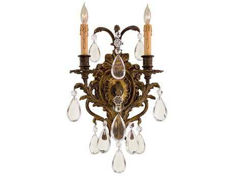 Metropolitan Lighting Foyer Antique Bronze Patina Two-Lights Wall Sconce METN2414