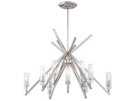 Metropolitan Lighting Fusano Polished Nickel 12-Lights 39'' Wide Grand Chandelier METN6831613