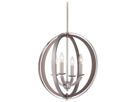 Metropolitan Lighting Ironsights Brushed Nickel Four-Lights 19'' Wide Pendant Light METN685584