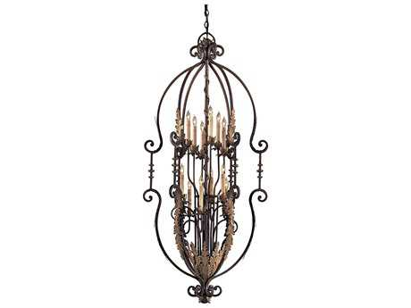 Metropolitan Lighting Amandari with Acanthus Leaf Accents 12-Lights 29.5'' Wide Grand Chandelier