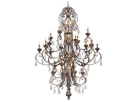 Metropolitan Lighting Windsor Rust with Bronze Accents 24-Lights 69'' Wide Grand Chandelier METN6228228