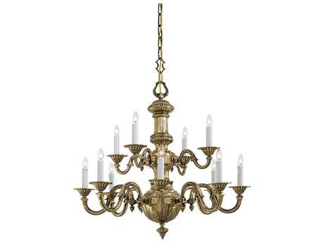 Metropolitan Lighting Classic Brass 12-Lights 31'' Wide Grand Chandelier METN700212