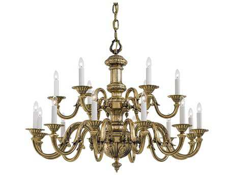 Metropolitan Lighting Classic Brass 18-Lights 38'' Wide Grand Chandelier METN700218