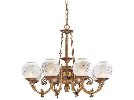 Metropolitan Lighting Antique Classic Brass Eight-Lights 36'' Wide Grand Chandelier METN801908