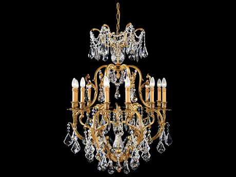 Metropolitan Lighting French Gold 12-Lights 32'' Wide Grand Chandelier METN9701