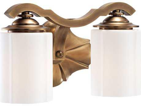 Metropolitan Lighting Leicester Aged Brass Two-Lights Vanity Light METN2942575